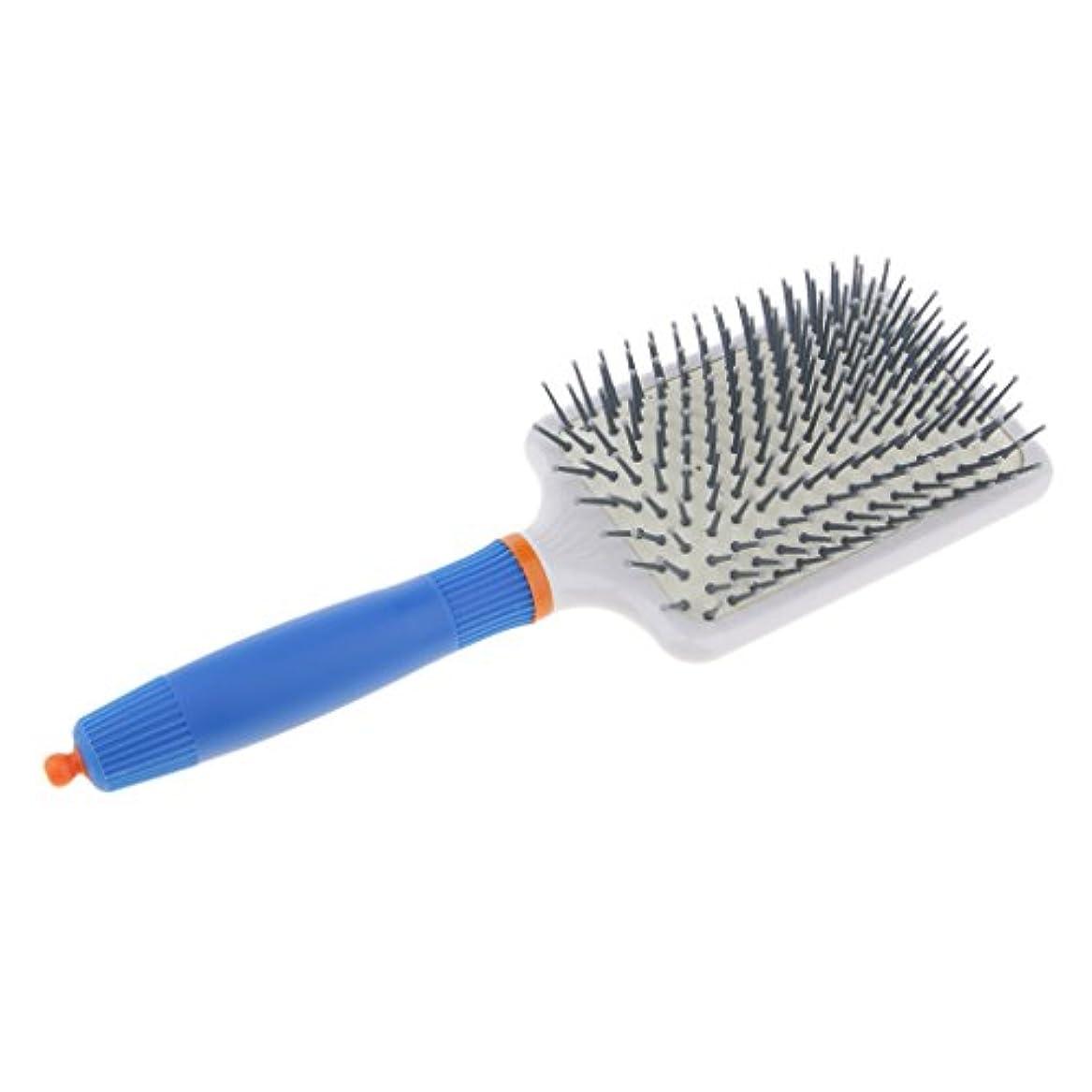 解釈的スクラップ時々ヘアブラシ くし エアバッグ 静電気防止 頭皮マッサージ 櫛 ヘアコーム 全2色 - ダークブルー