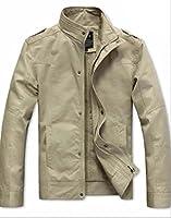 【Wild Cats】メンズ ジャケット 薄手 綿100% 春 秋 ライトアウター 大人 カジュアル コットン スリム スプリングコート かっこいい エコバッグ付き