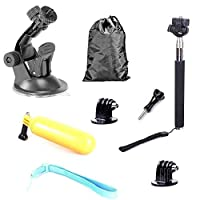 5 in 1 Universal Action Camera Bundle Outdoor Sport Accessories Starter Kit for GoPro Hero 6/5s/5/4/3+/3/2/1