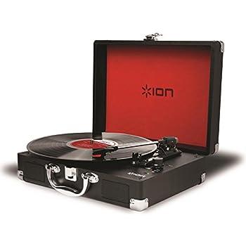 ION Audio Vinyl Motion レコードプレーヤー スーツケース型 バッテリー内蔵 USB端子