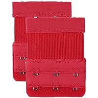 uxcell Women 2 X 2 Hooks Strechy Bra Extender Elastic Bra Strap Extending Multi Color