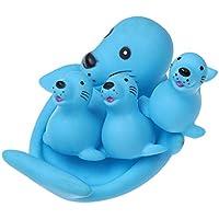 Seawang お風呂玩具 かわいい 動物 ペットおもちゃ 音の出るおもちゃ 無毒 子供 おもちゃ ベビーバスおもちゃ (A)