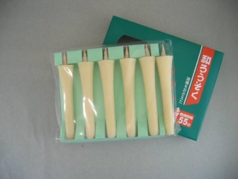 和ろうそく 型和蝋燭 ローソク 2号 イカリタイプ 白 小箱 6本入り