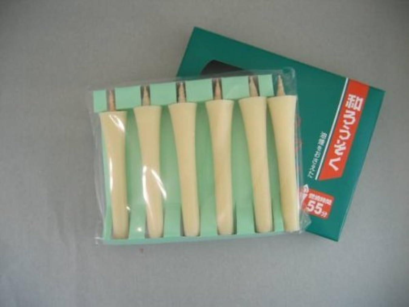 素晴らしい処方うなずく和ろうそく 型和蝋燭 ローソク 2号 イカリタイプ 白 小箱 6本入り
