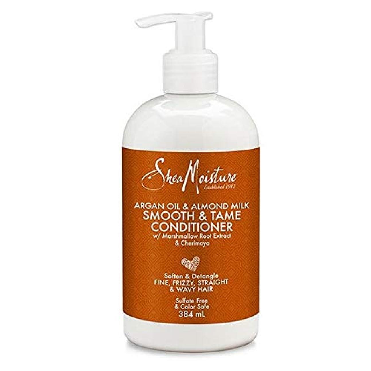 モナリザびん十分ではない[Shea Moisture ] シア水分アルガンオイル&アーモンドミルクコンディショナー384ミリリットル - Shea Moisture Argan Oil & Almond Milk Conditioner 384ml...