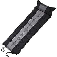 Akicon エアーマット キャンプ 自動膨張式 5cm エアピローも付き式 エアーベッド キャンプ 車中泊 防災 マット コンパクト 超軽量 防水 複数連結 収納袋付き