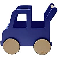 Manny And Simon Bright Navy Truck Push Cart by Manny and Simon