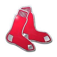 【MLB】Boston Red Sox レッドソックス カーエンブレム シルバー