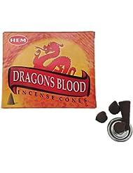 HEM(ヘム)お香 ドラゴンズブラッド コーン 1箱