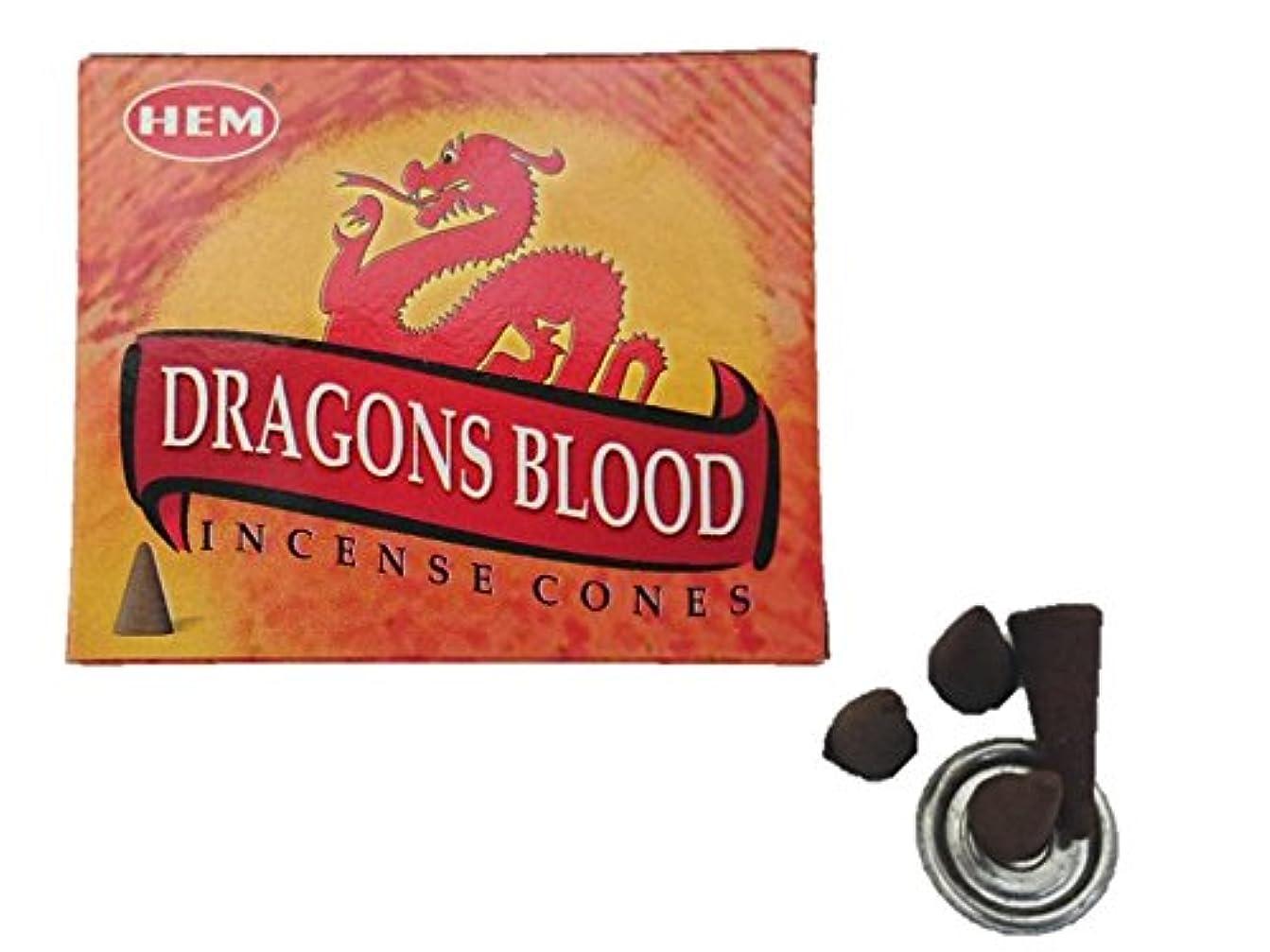 差し引く平行人物HEM(ヘム)お香 ドラゴンズブラッド コーン 1箱