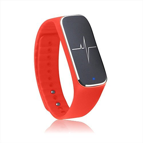 Docooler? Incomm L18 Smart Bracelet Sport Activity Fitness Tracker Pedometer Wristband Heart Rate Blood Pressure Emotional Status Fatigue Level Bluetooth 4.0 for iOS Android APP Control [並行輸入品]