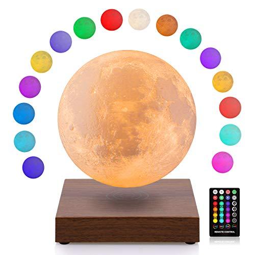 磁気浮上 月ライト 月ランプ 15センチ 16色の 3Dプリント 間接照明 ナイトライト デスクライト 屋内照明 インテリアライト インテリア テーブルランプ バレンタインデー プレゼント 母の日 の プレゼント