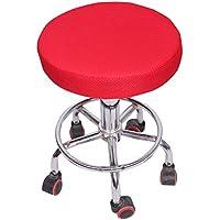 実用的なシートカバー純粋な色通気性のホームシートクッション/チェアパッド、赤