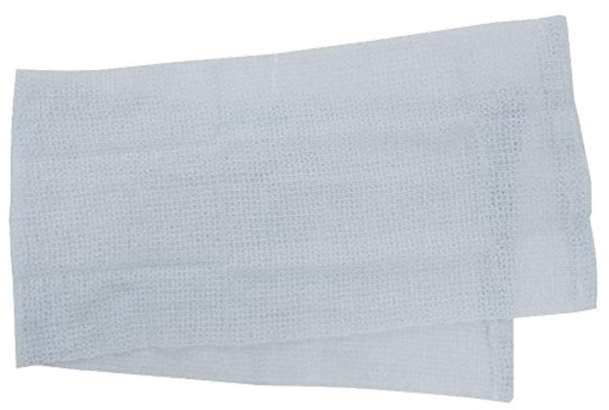 悪意のあるいつかオーチャード小久保 『メレンゲのような泡立ちとソフトな肌ざわり』 モコモコボディタオル ブルー 24×100cm 2278