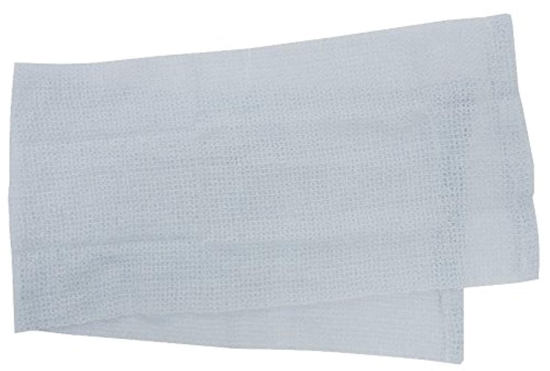 睡眠卵すき小久保 『メレンゲのような泡立ちとソフトな肌ざわり』 モコモコボディタオル ブルー 24×100cm 2278