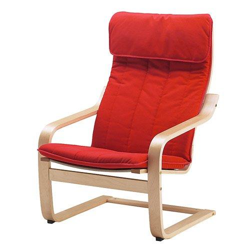 RoomClip商品情報 - IKEA(イケア) POANG アームチェア バーチ材突き板 アルメ ミディアムレッド