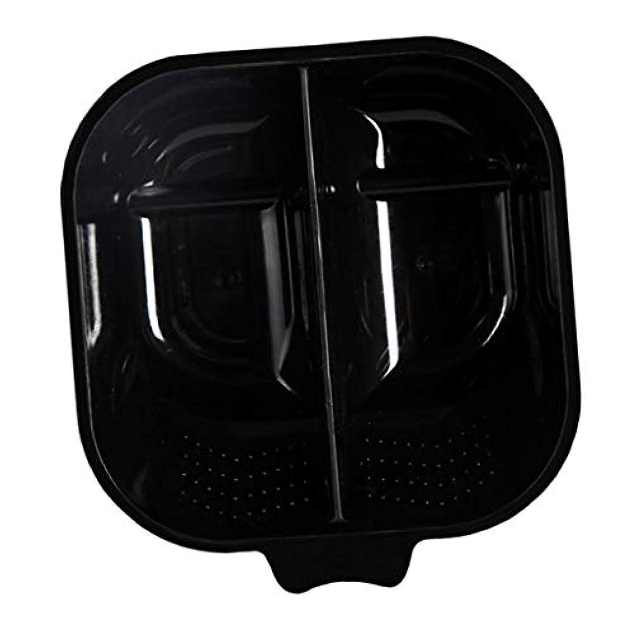 意気揚々すばらしいです発明するヘアカラーリング用品 ヘアカラーボウル ヘアカラープレート 毛染め 染料 混ぜる サロン プロ用品 - ブラック