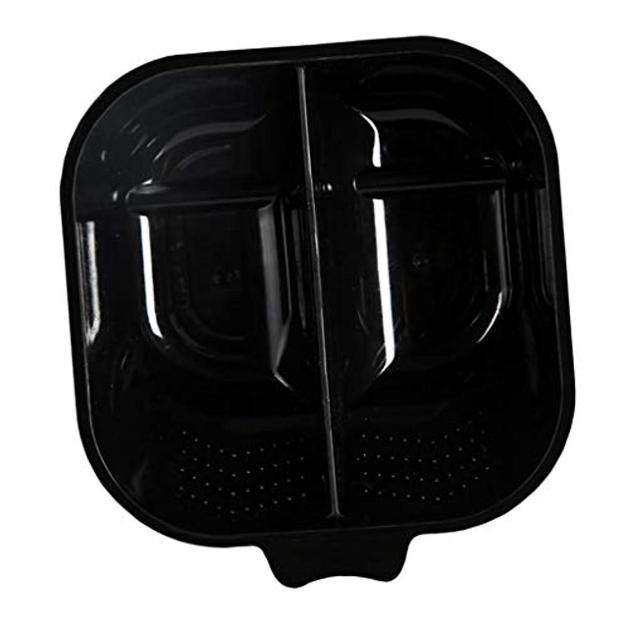 リングバック自治ローブヘアカラーリング用品 ヘアカラーボウル ヘアカラープレート 毛染め 染料 混ぜる サロン プロ用品 - ブラック