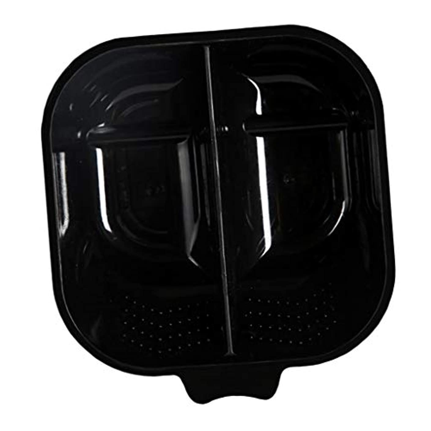 め言葉ポルティコ比べるヘアカラーリング用品 ヘアカラーボウル ヘアカラープレート 毛染め 染料 混ぜる サロン プロ用品 - ブラック