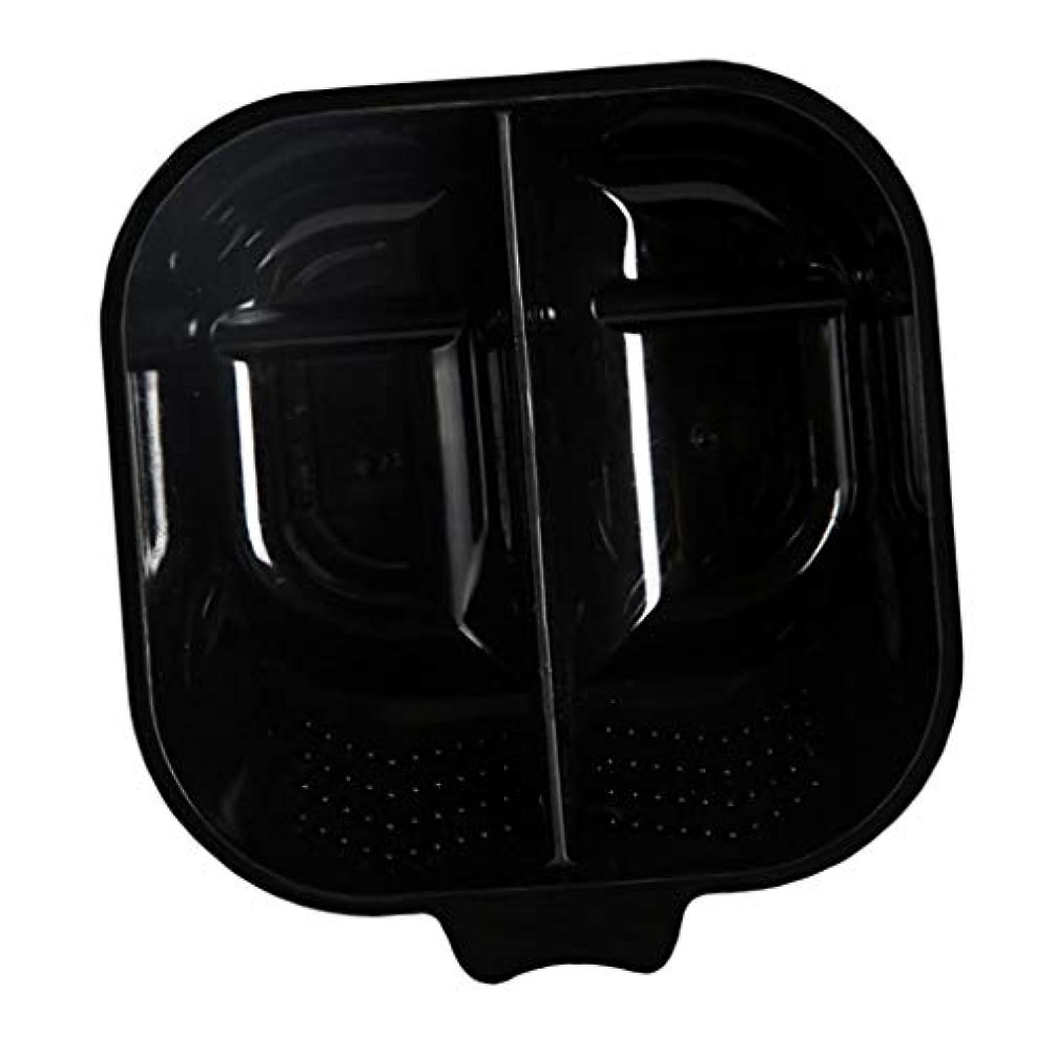 マントル生まれ持つヘアカラーリング用品 ヘアカラーボウル ヘアカラープレート 毛染め 染料 混ぜる サロン プロ用品 - ブラック