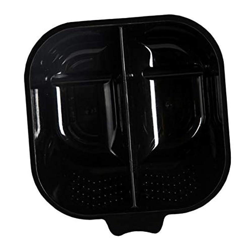 行動無しバリーヘアカラーリング用品 ヘアカラーボウル ヘアカラープレート 毛染め 染料 混ぜる サロン プロ用品 - ブラック