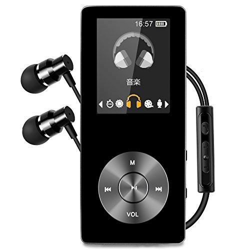 [해외]MP3 플레이어 내장 스피커 SD 카드 지원 HiFi 음질 금속 디지털 오디오 플레이어 메모리 8GB 보이스 레코더 FM 라디오 기능 탑재 블랙 VEHOLION M1-B/MP3 player built-in speaker SD card correspondence HiFi sound quality metal made digital au...