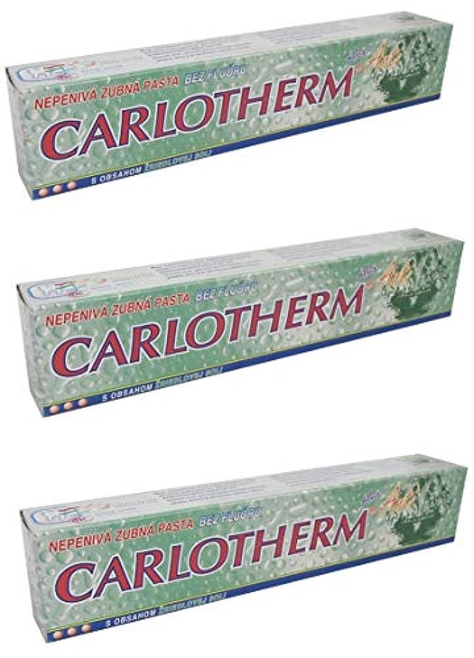 会話型大佐ペネロペCarlotherm (フッ素フリー)ペパーミントオイルとサーマルソルト ハミガキ粉 147g x 3個