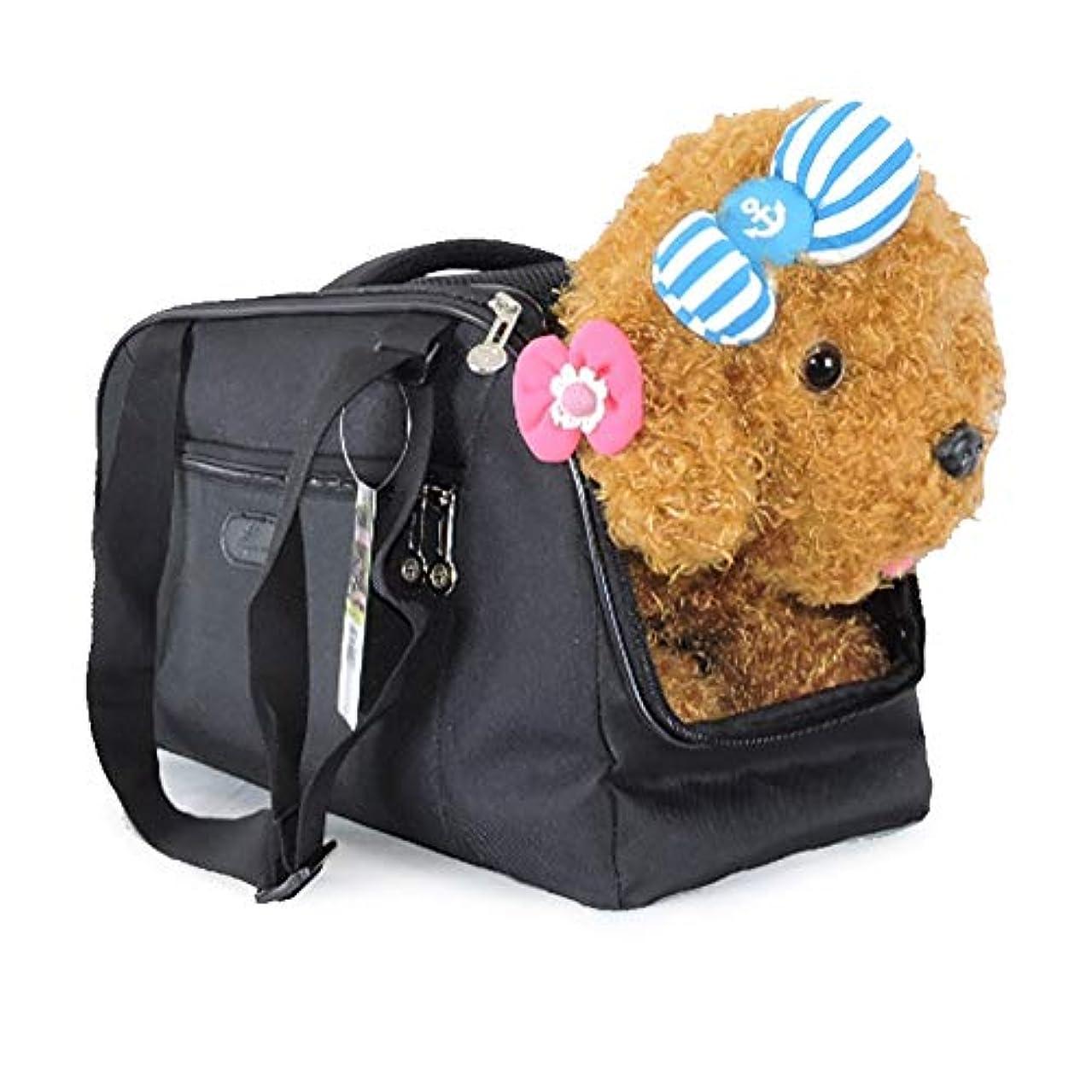 マッサージくま参加するHong Tai Yang ペットトラベルバッグ、ドッグバッグキャットバッグ、ペットアウト装置、通気性、折りたたみ式、安全、マルチカラー、軽量、安全バックル、収納バッグ、携帯用、ファッションハンドバッグ ** (色 : 黒, サイズ さいず : S s)