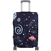 Mydaily Space Galaxy Doodle Luggage Cover Fits 18-32 Inch Suitcase Spandex Travel Protector