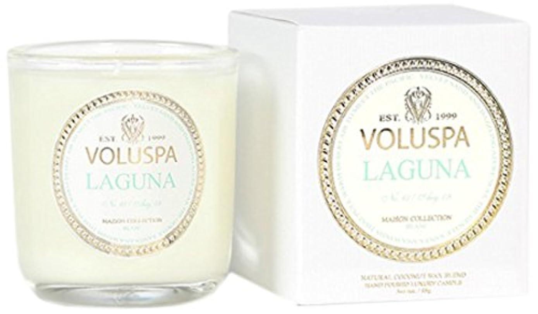 爪過度に目覚めるVoluspa ボルスパ メゾンブラン ミニグラスキャンドル ラグナ MAISON BLANC Mini Glass Candle LAGUNA