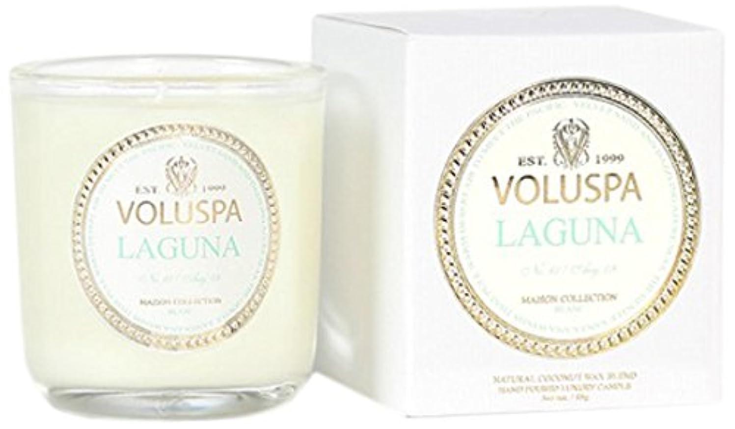 プログレッシブ思いつく不器用Voluspa ボルスパ メゾンブラン ミニグラスキャンドル ラグナ MAISON BLANC Mini Glass Candle LAGUNA