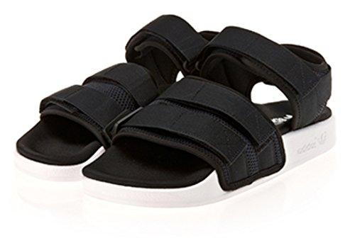(アディダス)adidas オリジナルス ADILETTE SANDAL 2.0 W ベルクロ アディレッタ サンダル 男女兼用 (26.5cm, BLACK) [並行輸入品]
