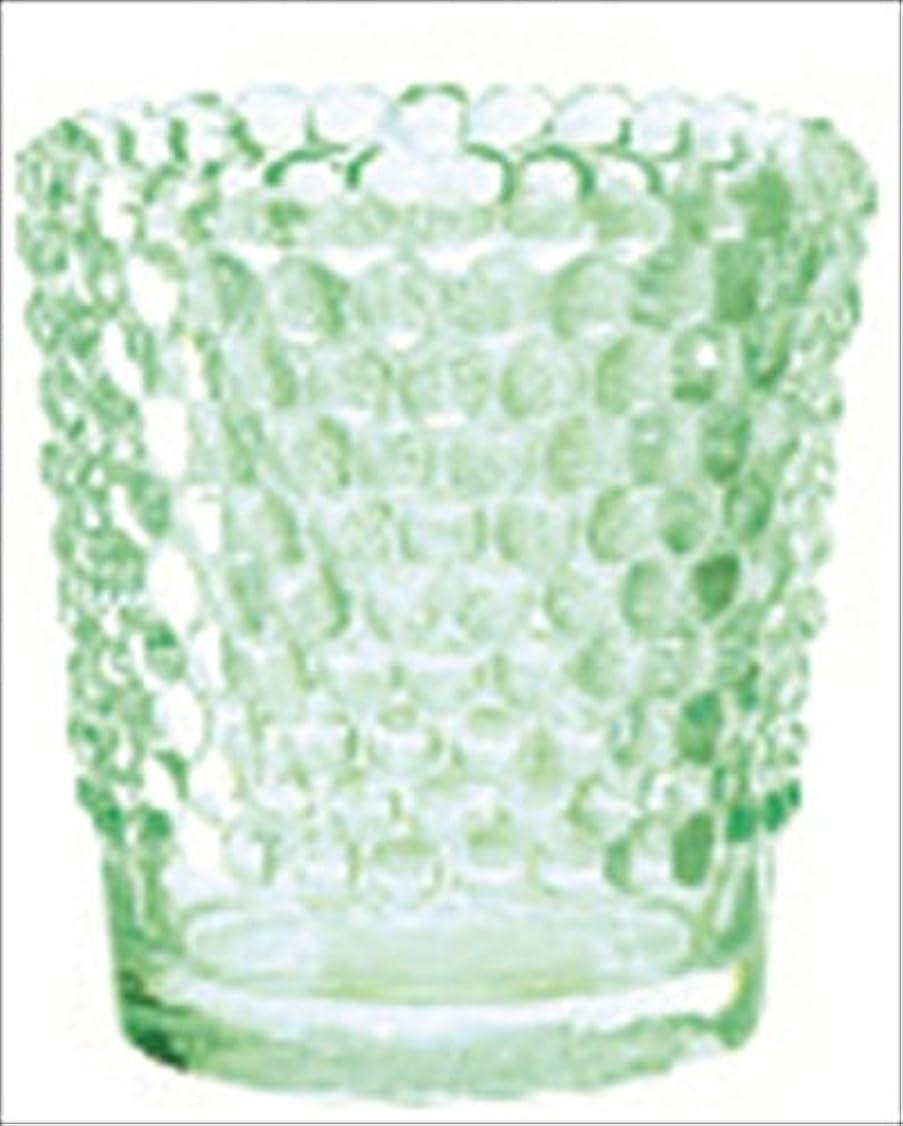 市民権ほんの厚くするカメヤマキャンドル( kameyama candle ) ホビネルグラス 「 エメラルド 」