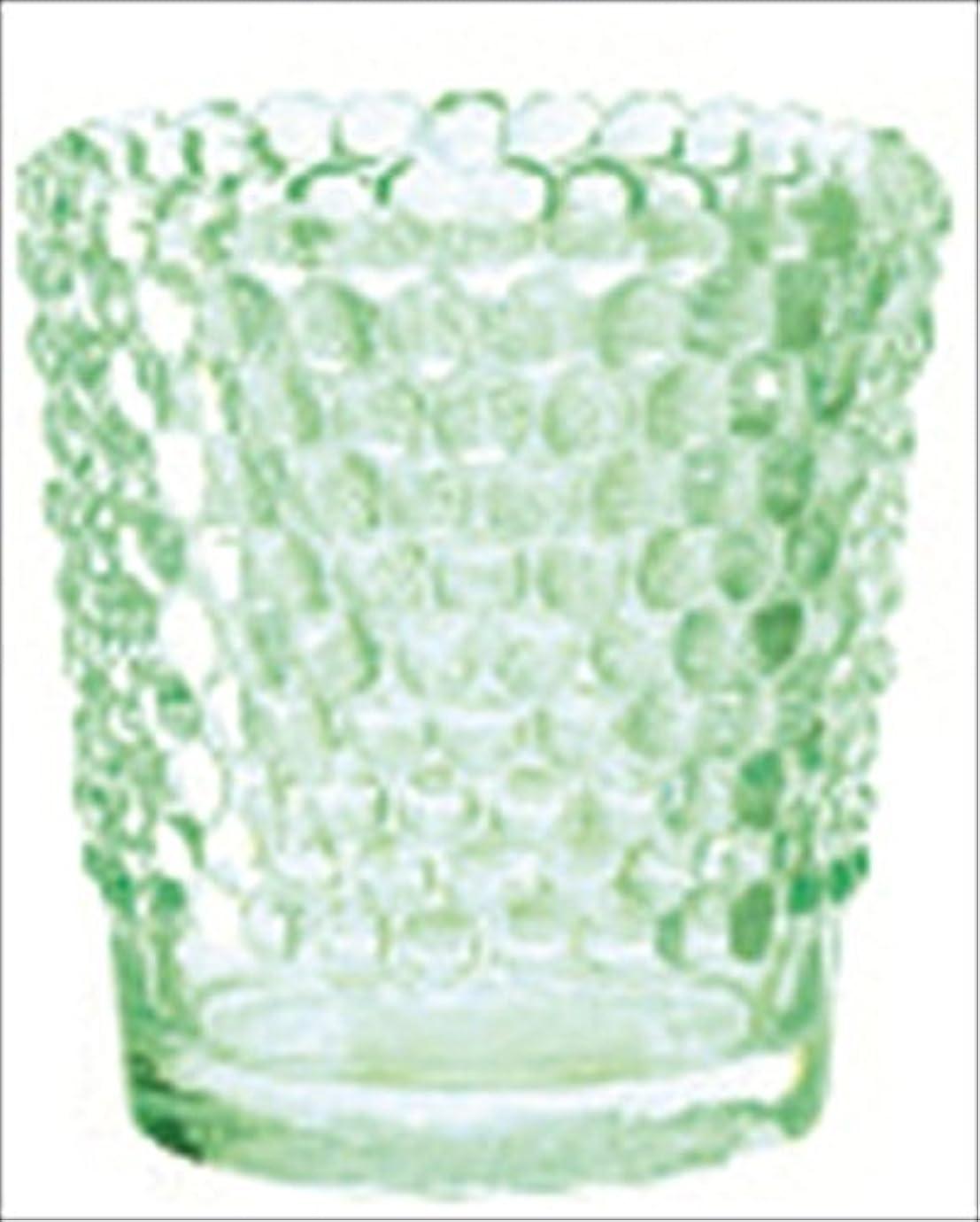 夜明けメッセージ肉カメヤマキャンドル( kameyama candle ) ホビネルグラス 「 エメラルド 」