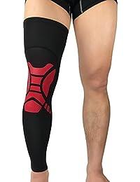 (ティーモイス)Timoise メンズ ロング膝パッド ニーパット 怪我防止 左右兼用 通気 関節靭帯保護 バスケットボール テニス 一枚入り 大きいサイズ 膝固定 膝サポーター 膝当て レッグスリーブ