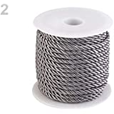 20m 2grey Twisted Cord/String リ5mm, Cord Macrame, Cord Decorative, Cord Crafts, Braided Twine, Cords and Blinds Strings, Haberdashery