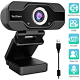 PC Webcam, 1080P Full HD Webcam USB Desktop & Laptop Webcam Live Streaming Webcam with Microphone Widescreen HD Video Webcam 90-Degree Extended View for Video Calling