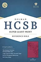 Holy Bible: Holman Christian Standard, Pink, LeatherTouch, Super Giant Print Reference
