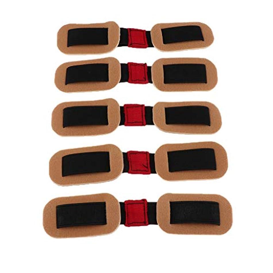 表面にぎやかに付けるgazechimp 5個 外反母趾サポーター バンド ストラップ 親指矯正 トレーニング 耐久 再利用可能 実用的