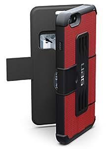 【日本正規代理店品】URBAN ARMOR GEAR iPhone 6 Plus (5.5インチ)用フォリオケース レッド UAG-IPH6PLSF-RED