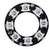 Saikogoods LEDリング8 x WS2812B 5050 RGB統合ドライバArduino 8ビットY45超高輝度スマートLedリングブラック