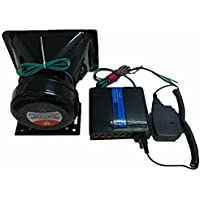 【 大音量 130db + 5種の警報音 】 車載用 スピーカー アンプセット イベント 拡声器 アンプ セット 避難訓…