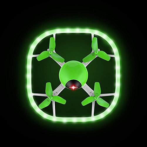 Potensic ドローン 高度保持 ヘッドレスモード 調節可能なLEDライト ミニドローン 低電圧・無効距離アラーム 日本語説明書付き 国内認証済み U51 小型 グリーン&ホワイト