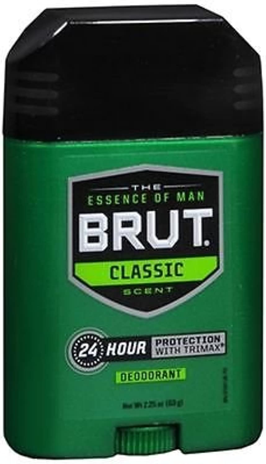 経度慣らす成長BRUT Classic scent Deodorant 2.25oz(63g)-国内出荷配送、並行輸入品