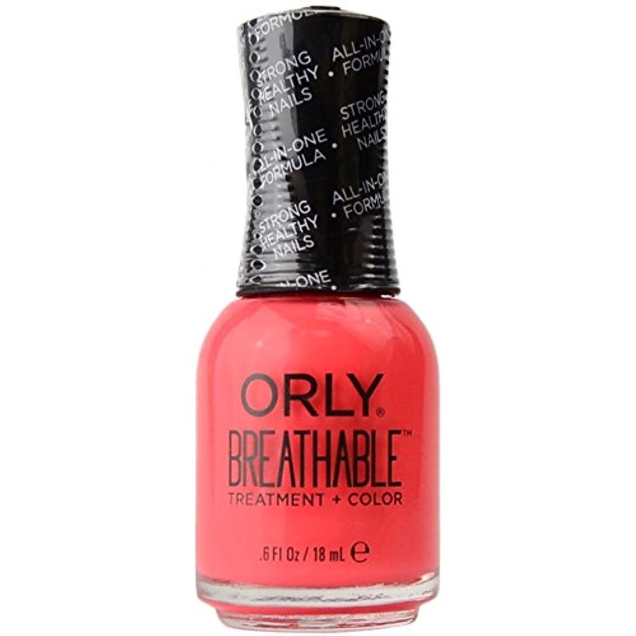 ひもマキシム従事するOrly Breathable Treatment + Color Nail Lacquer - Nail Superfood - 0.6oz / 18ml