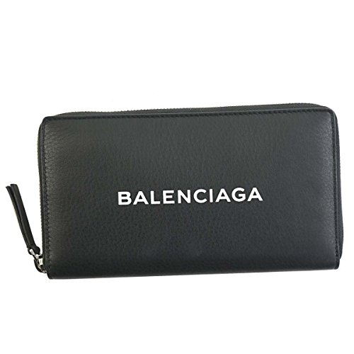 バレンシアガ 財布 長財布 BALENCIAGA EVERYDAY 490625 SHOPPING CONTINENTAL 1000 NOIR/BLANC DLQ4N LEATH...