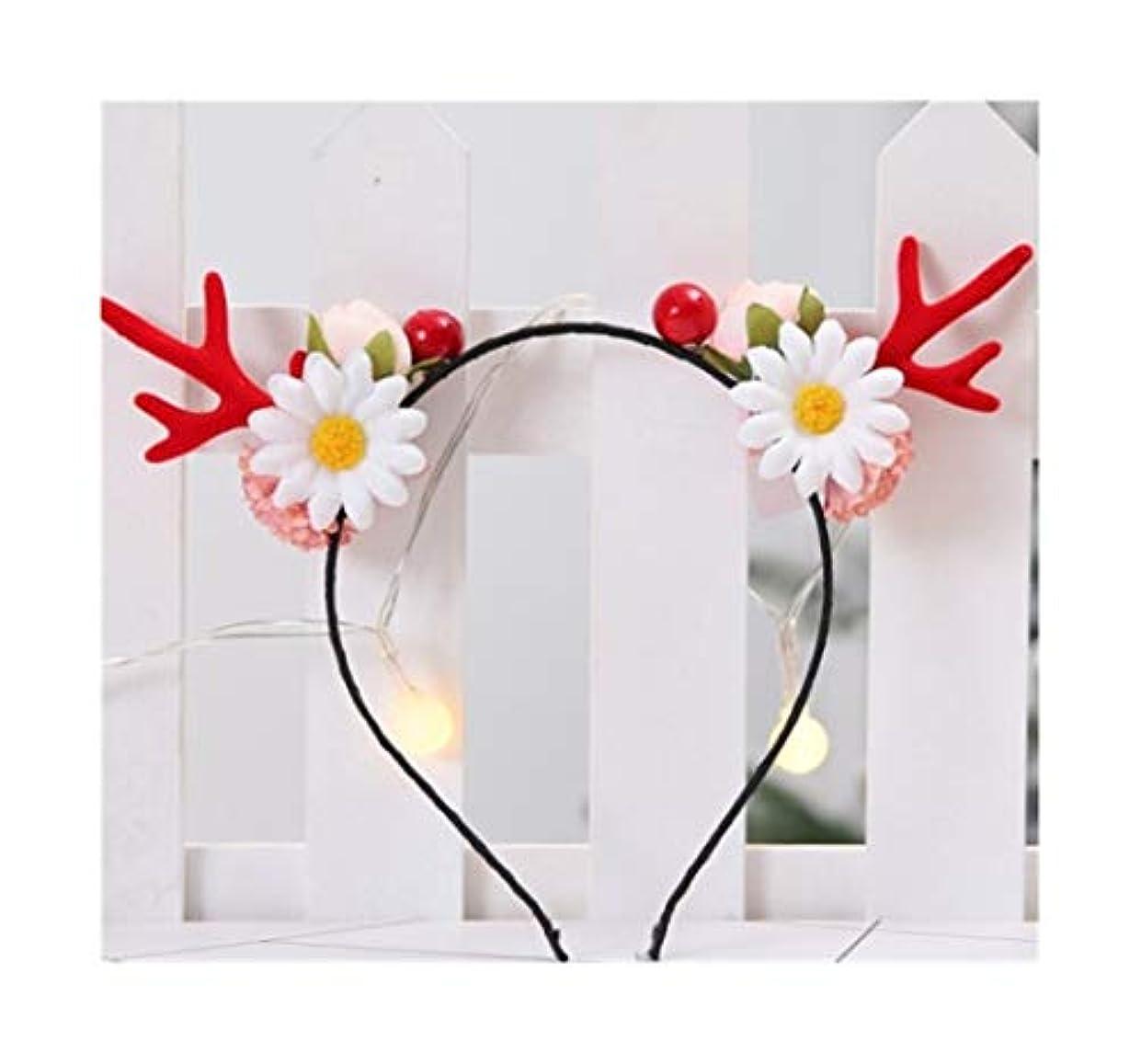 サバント救いピンクHCXD 同じ段落クリスマス枝角ヘアピン小さなクリップ大人面白いネット赤い髪カーソン女性のヘアアクセサリーヘラジカヘッドの装飾品赤い枝角の花のヘッドバンド クリスマスの帽子