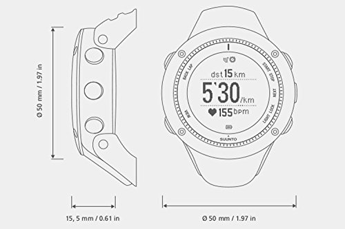 SUUNTO(スント) AMBIT3 RUN BLACK (HR) 【日本正規品】 時刻表示 GPS コンパス 心拍計 Bluetooth [メーカー保証2年]