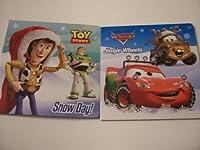 [ディズニー]Disney Cars and Toy story Christmas Board Book Set ~ Jingle Wheels, Snow Day! DC TS Jingle Wheels, Snow [並行輸入品]