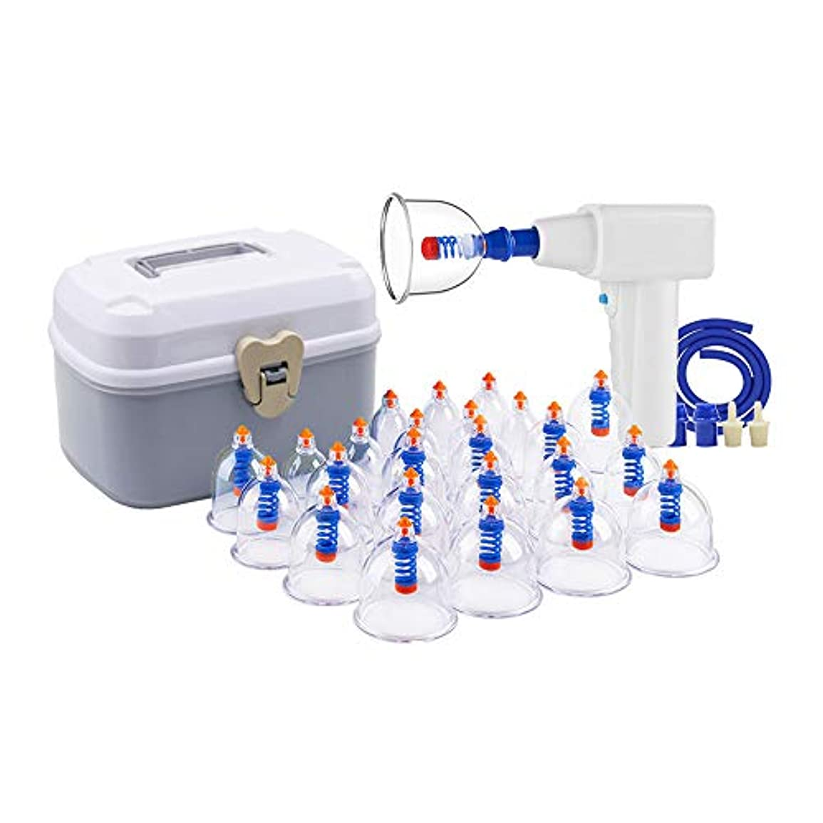 拡散する自発的させるカッピング装置 - 家庭用電気プロフェッショナルカッピング治療装置24カップは、大人と高齢者に適したポンプと伸展チューブで設定 美しさ